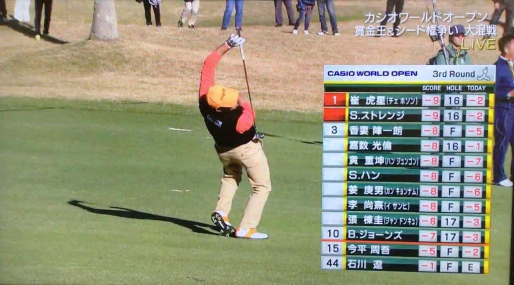 チェ・ホソン、変則打法のゴルフは独学